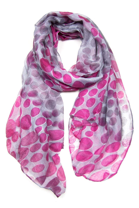 Deep Pink Purple Gray Dot Scarf
