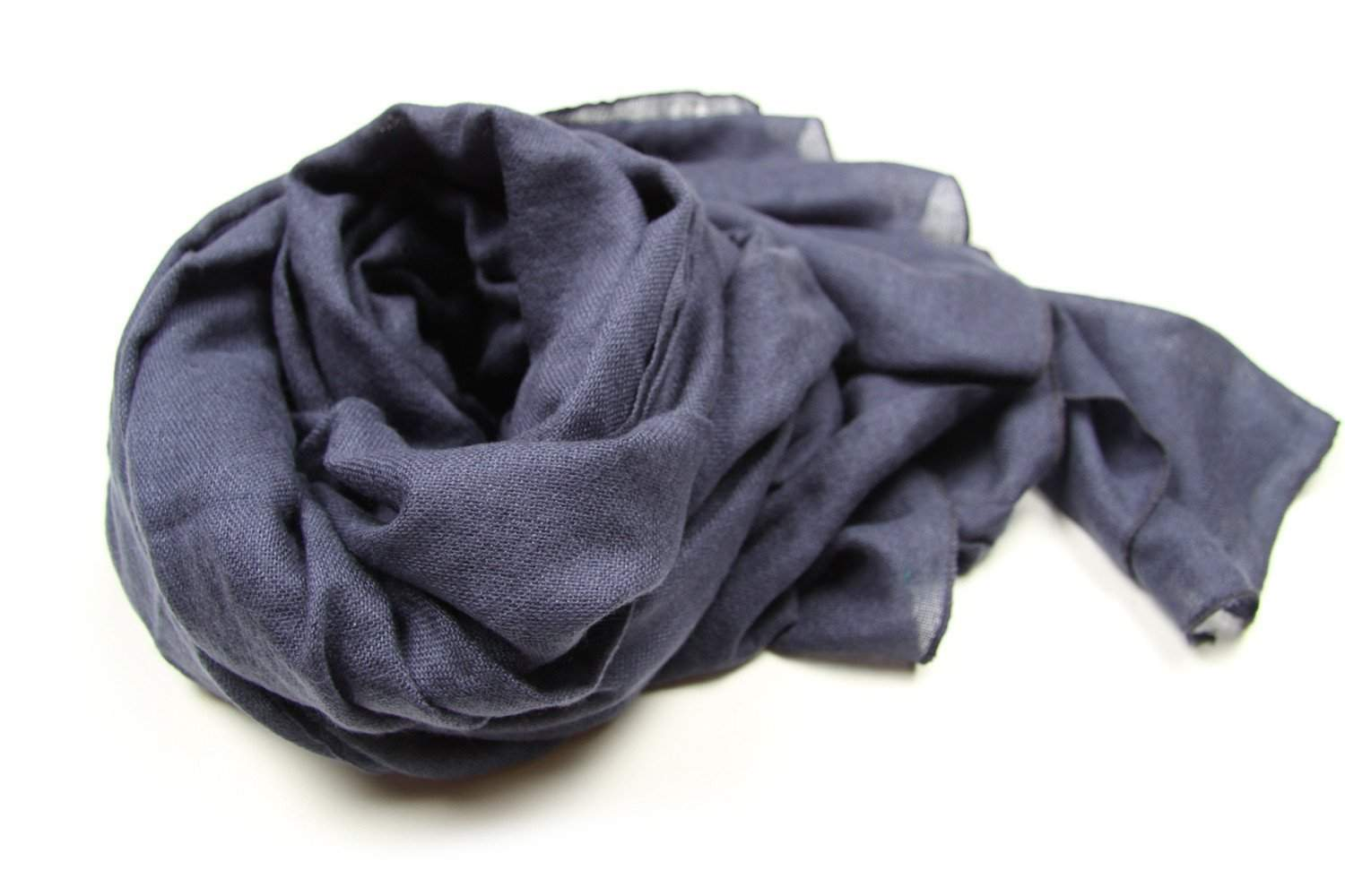 Denim Blue Scarf, Womens, Mens, Acrylic Gauze-scarves-Necklush