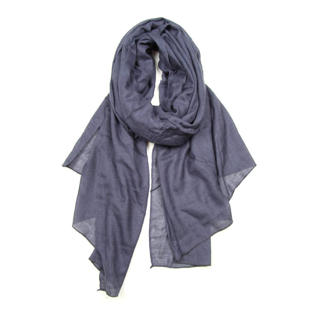Denim Blue Scarf, Womens, Mens, Acrylic Gauze