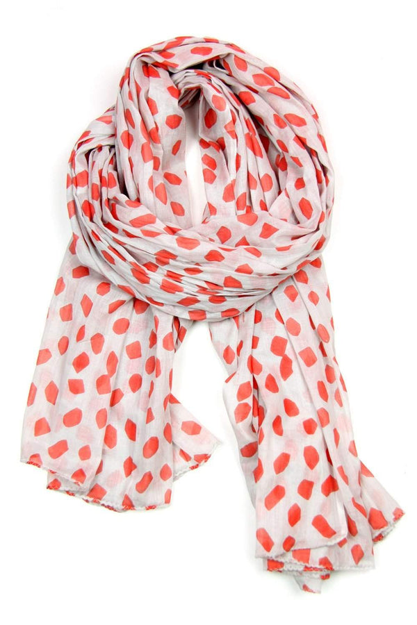 Gray Coral Womens Soft Cotton Scarf-scarves-Necklush