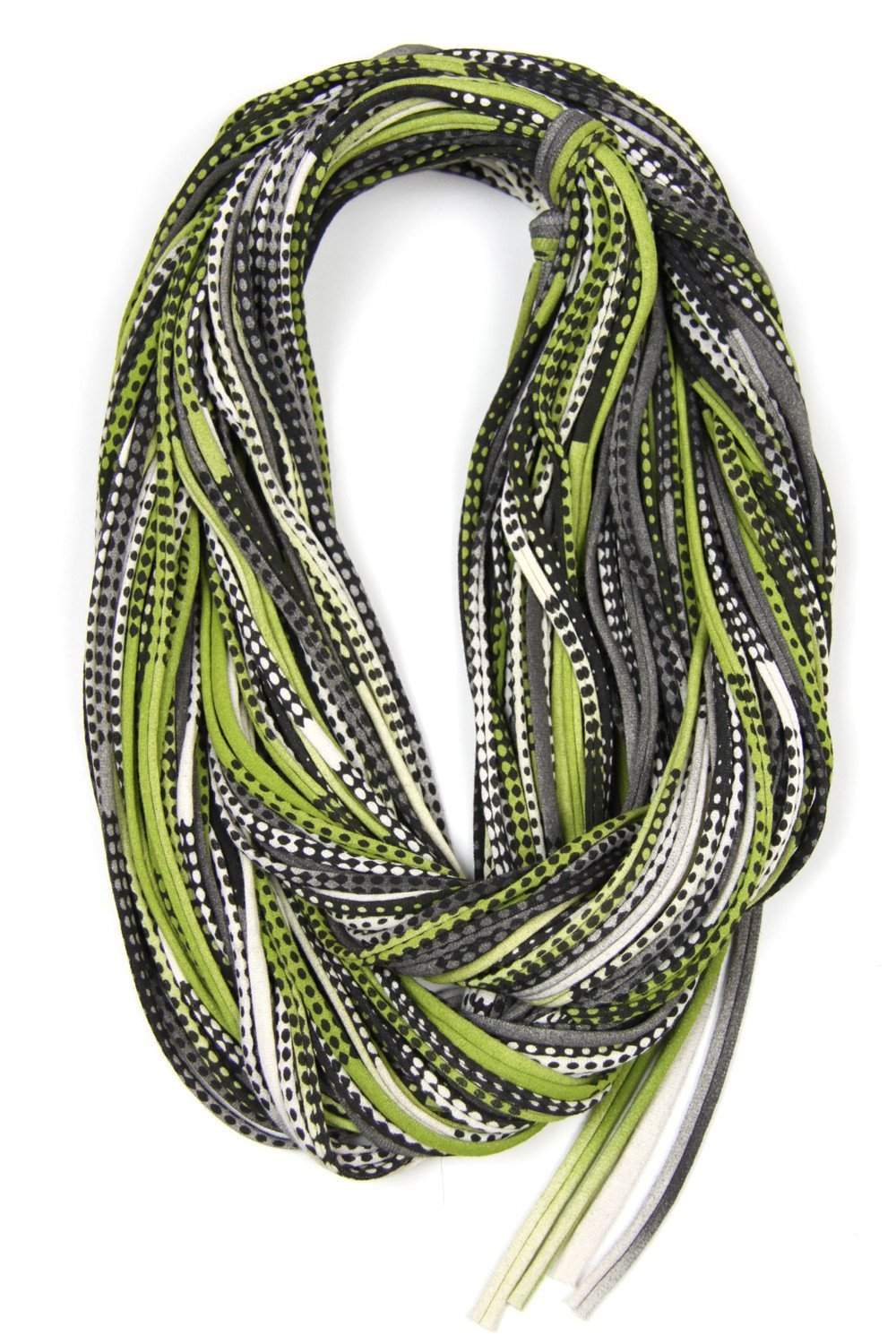 Green Black Chunky Scarf-scarves-Necklush