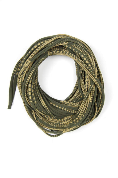 Green Gold Cowl Scarf-scarves-Necklush