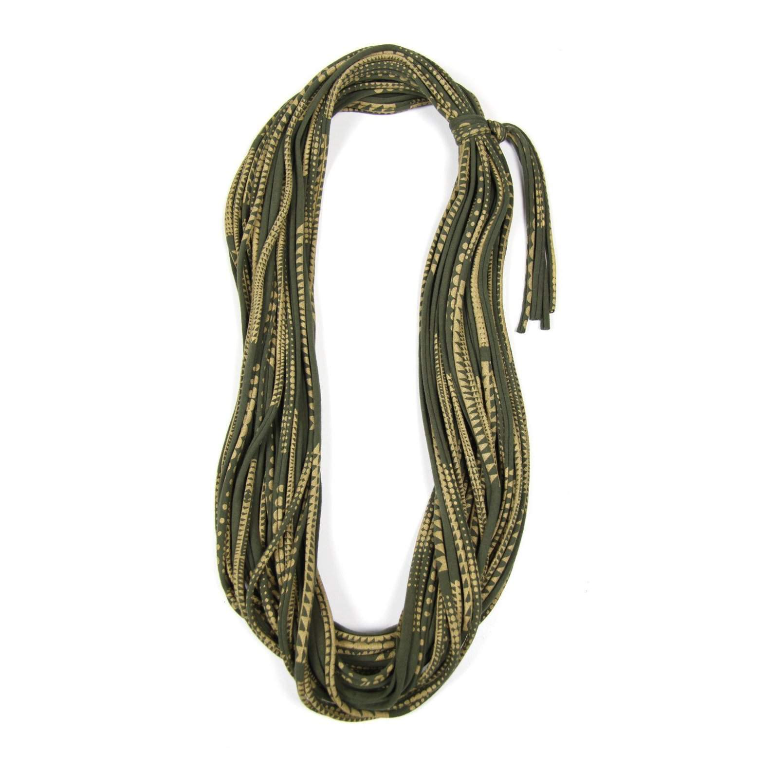 Green Gold Cowl Scarf