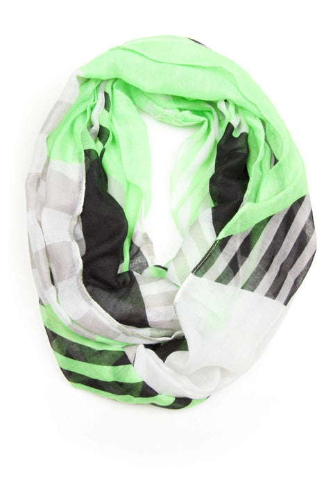 Green White Infinity Scarf