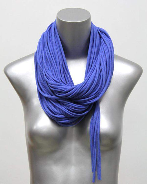 Heather Blue Chunky Scarf-scarves-Necklush