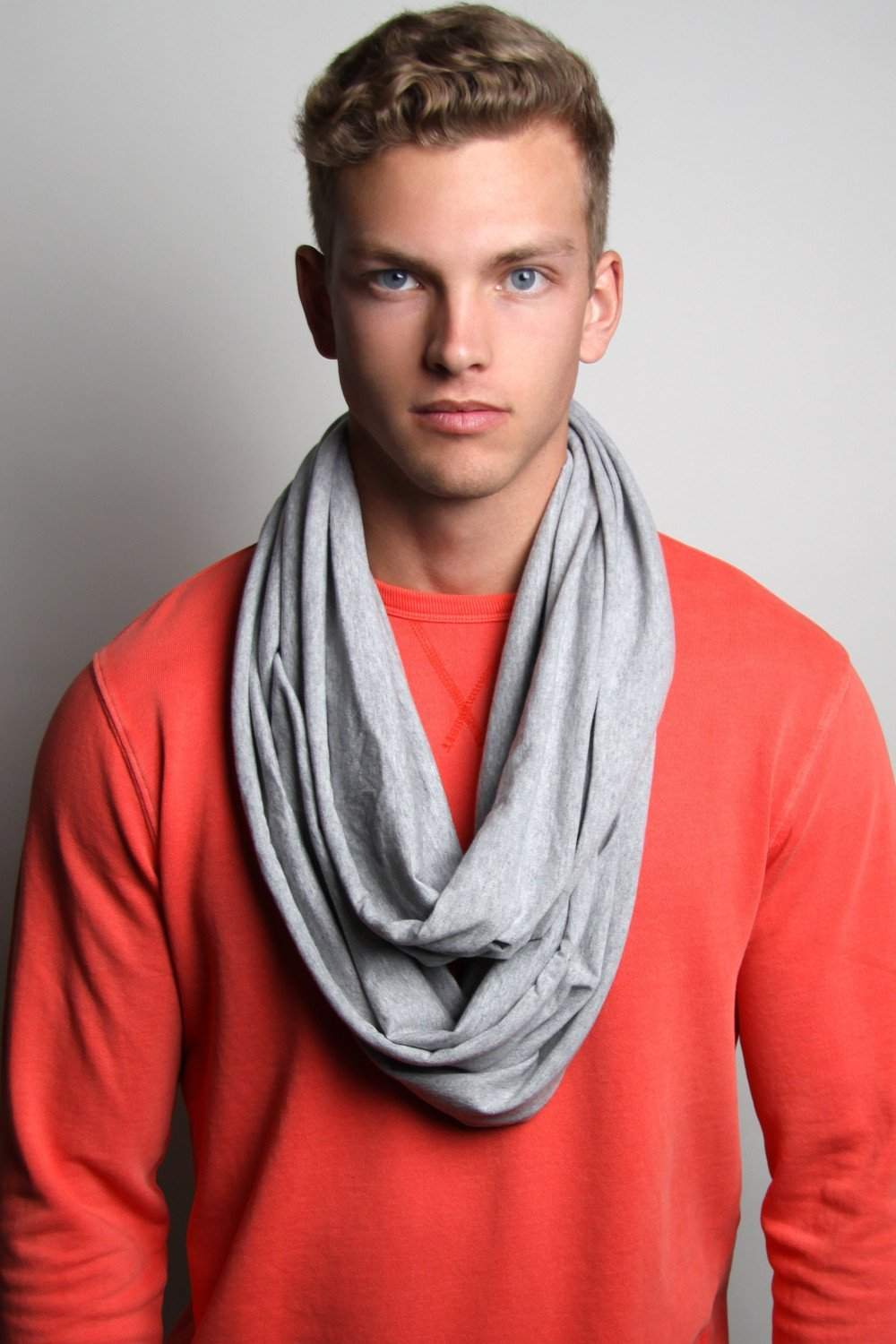 Heather Gray Circle Scarf
