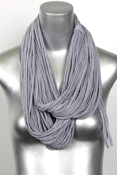 Heather Gray Chunky Scarf-scarves-Necklush