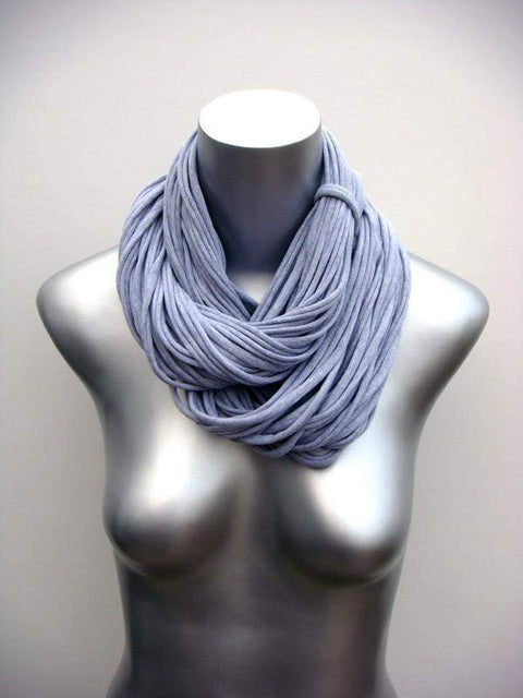 Heather Gray Cowl Scarf-scarves-Necklush