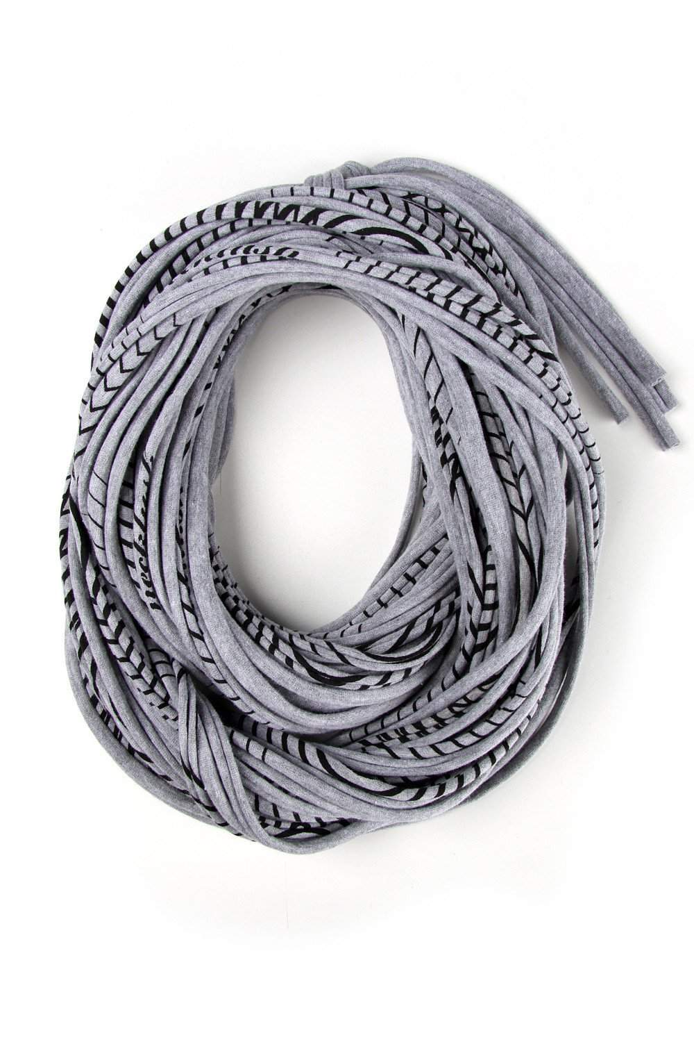 Heather Gray with Stripes / Cowl-scarves-Necklush