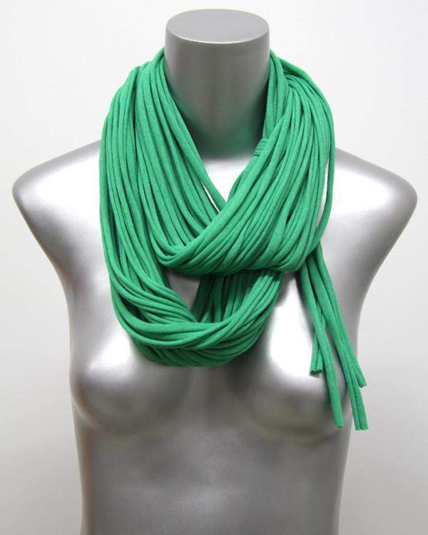 Heather Green Chunky Scarf-scarves-Necklush