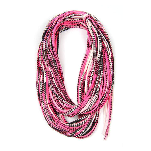 Hot Pink Black Chunky Scarf