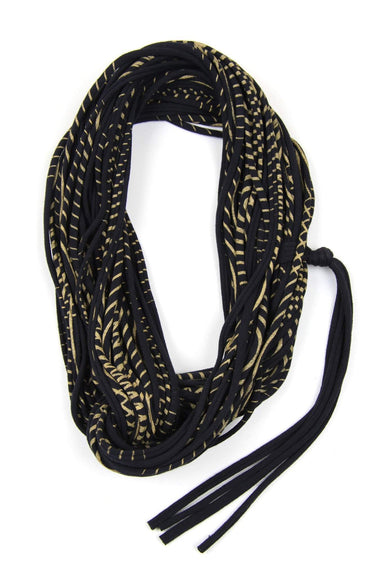 infinity scarves-Black Gold Infinity Scarf-Necklush