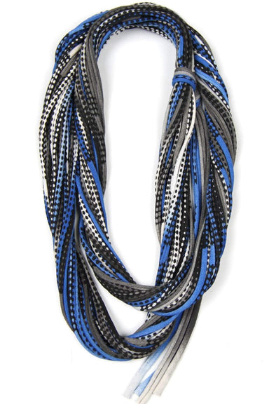 infinity scarves-Blue Black Infinity Scarf-Necklush