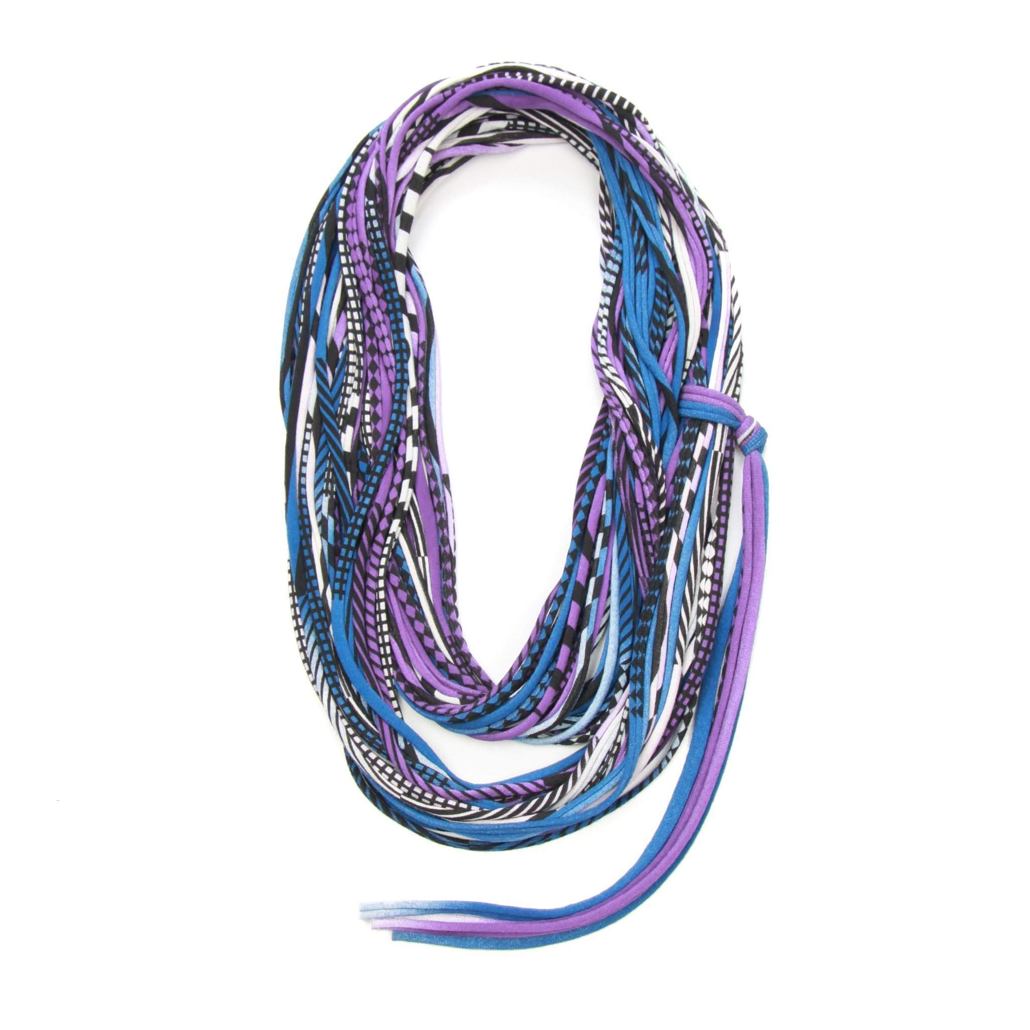 infinity scarves-Blue Purple Black Infinity Scarf-Necklush