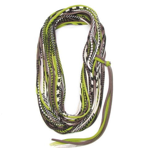 infinity scarves-Green Brown Infinity Scarf-Necklush
