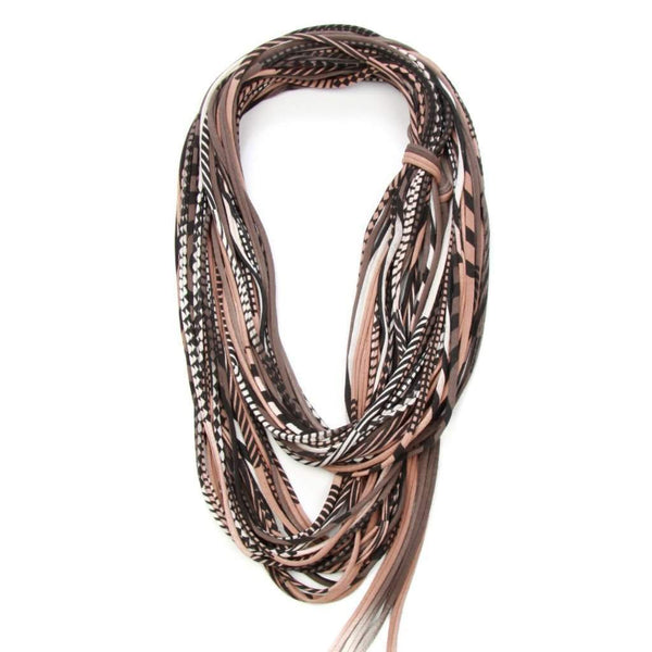 infinity scarves-Brown Black Infinity Scarf-Necklush