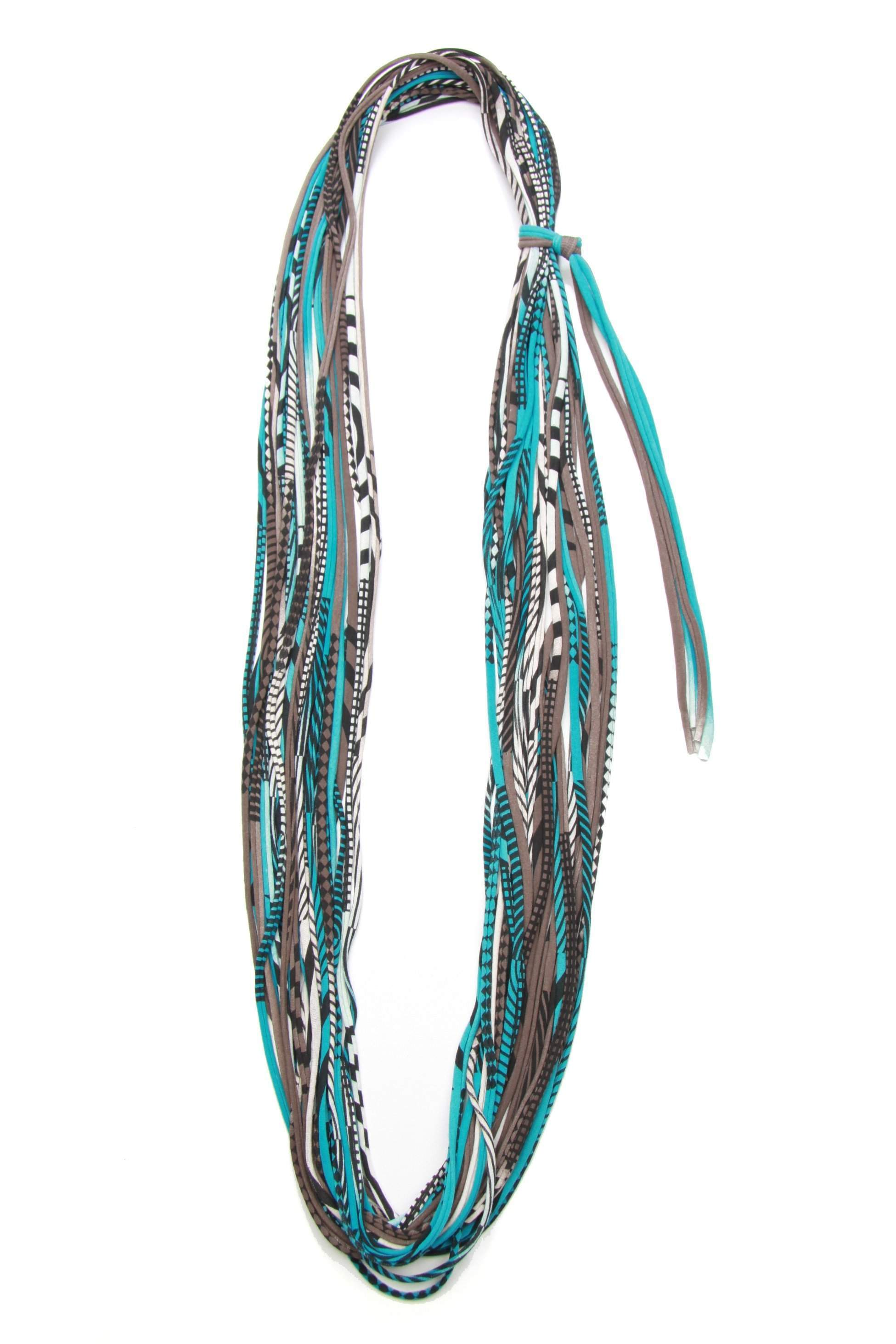 infinity scarves-Turquoise Brown Infinity Scarf-Necklush