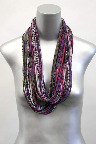 infinity scarves-Burgundy Brown Purple Infinity Scarf-Necklush