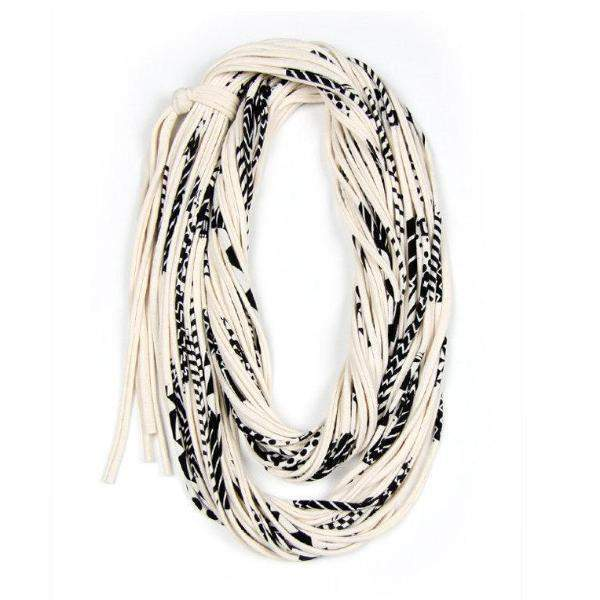 infinity scarves-Cream Black Infinity Scarf-Necklush