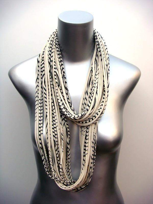 infinity scarves-Striped Infinity Scarf-Necklush