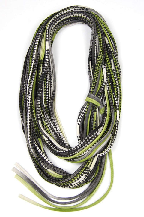 infinity scarves-Green Black Infinity Scarf-Necklush