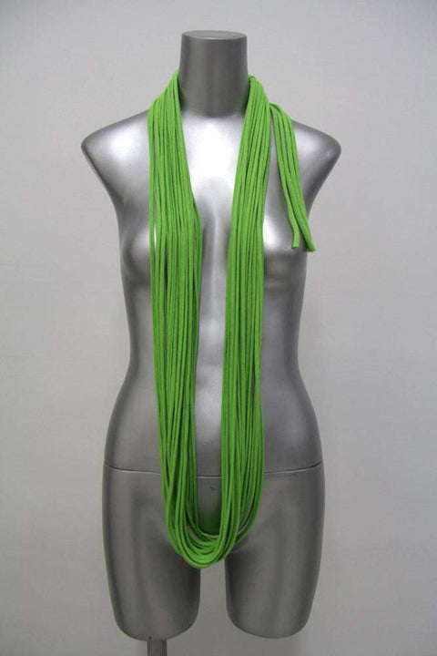 infinity scarves-Lime Green Infinity Scarf-Necklush