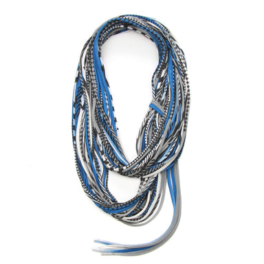infinity scarves-Blue Gray Infinity Scarf-Necklush