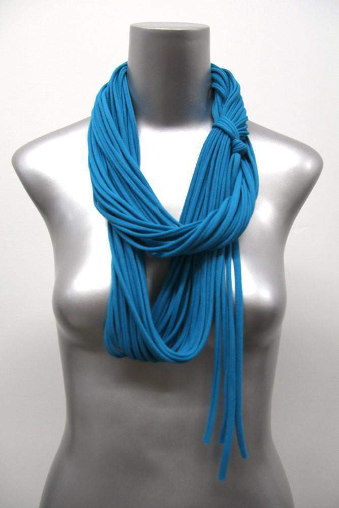 infinity scarves-Cerulean Blue Infinity Scarf-Necklush