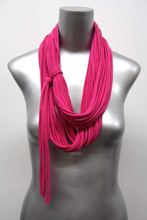 infinity scarves-Deep Pink Infinity Scarf-Necklush
