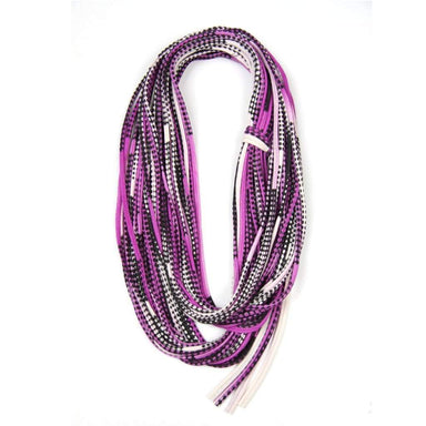 infinity scarves-Purple Black Infinity Scarf-Necklush