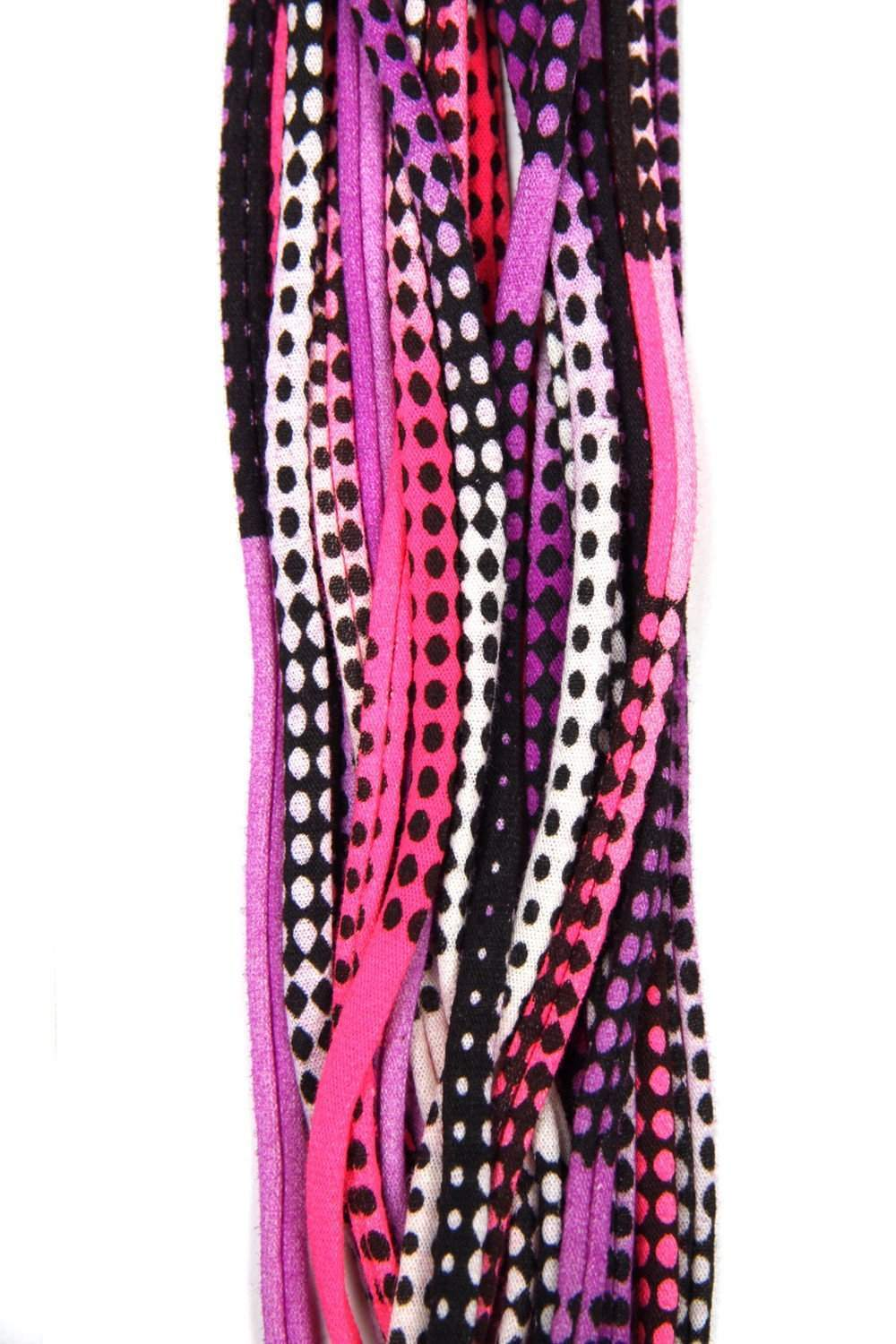 infinity scarves-Pink Purple Black Infinity Scarf-Necklush