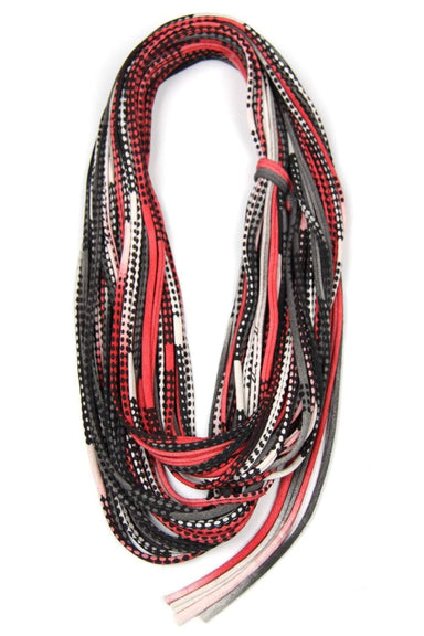 infinity scarves-Red and Black Infinity Scarf-Necklush