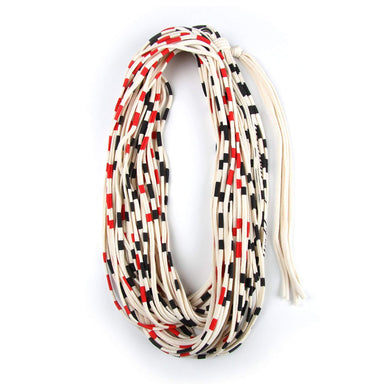 infinity scarves-Red Black Stripe Infinity Scarf-Necklush