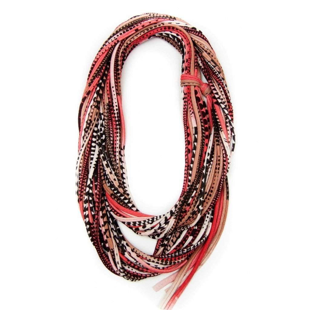 infinity scarves-Red Light Brown Infinity Scarf-Necklush