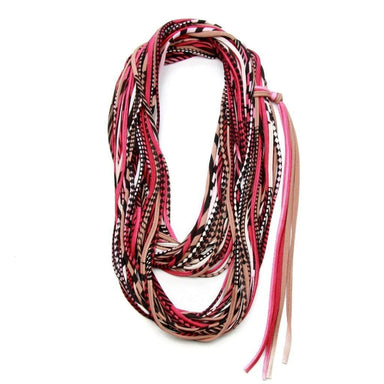 infinity scarves-Burgundy Light Brown Infinity Scarf-Necklush