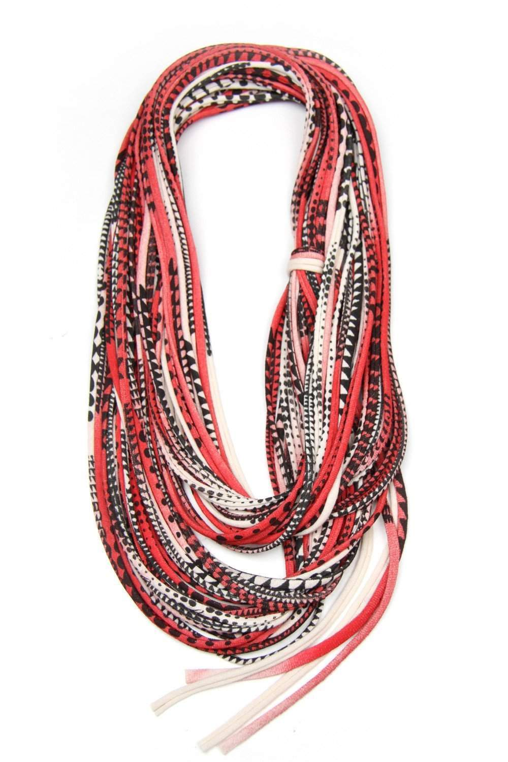 infinity scarves-Red Cream & Black Infinity Scarf-Necklush