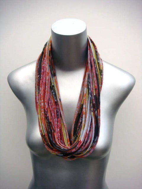 infinity scarves-Orange Red Infinity Scarf-Necklush