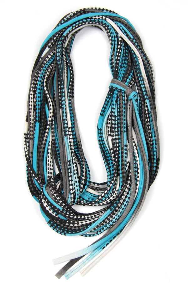 infinity scarves-Turquoise Black Infinity Scarf-Necklush