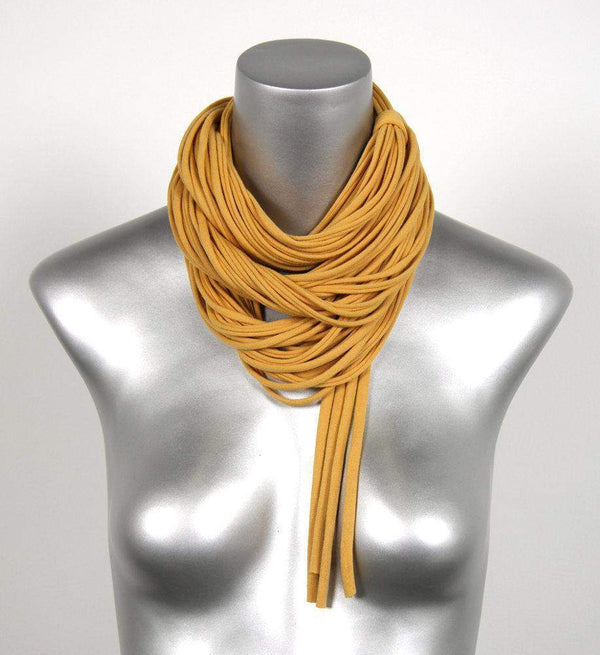 infinity scarves-Mustard Yellow Infinity Scarf-Necklush
