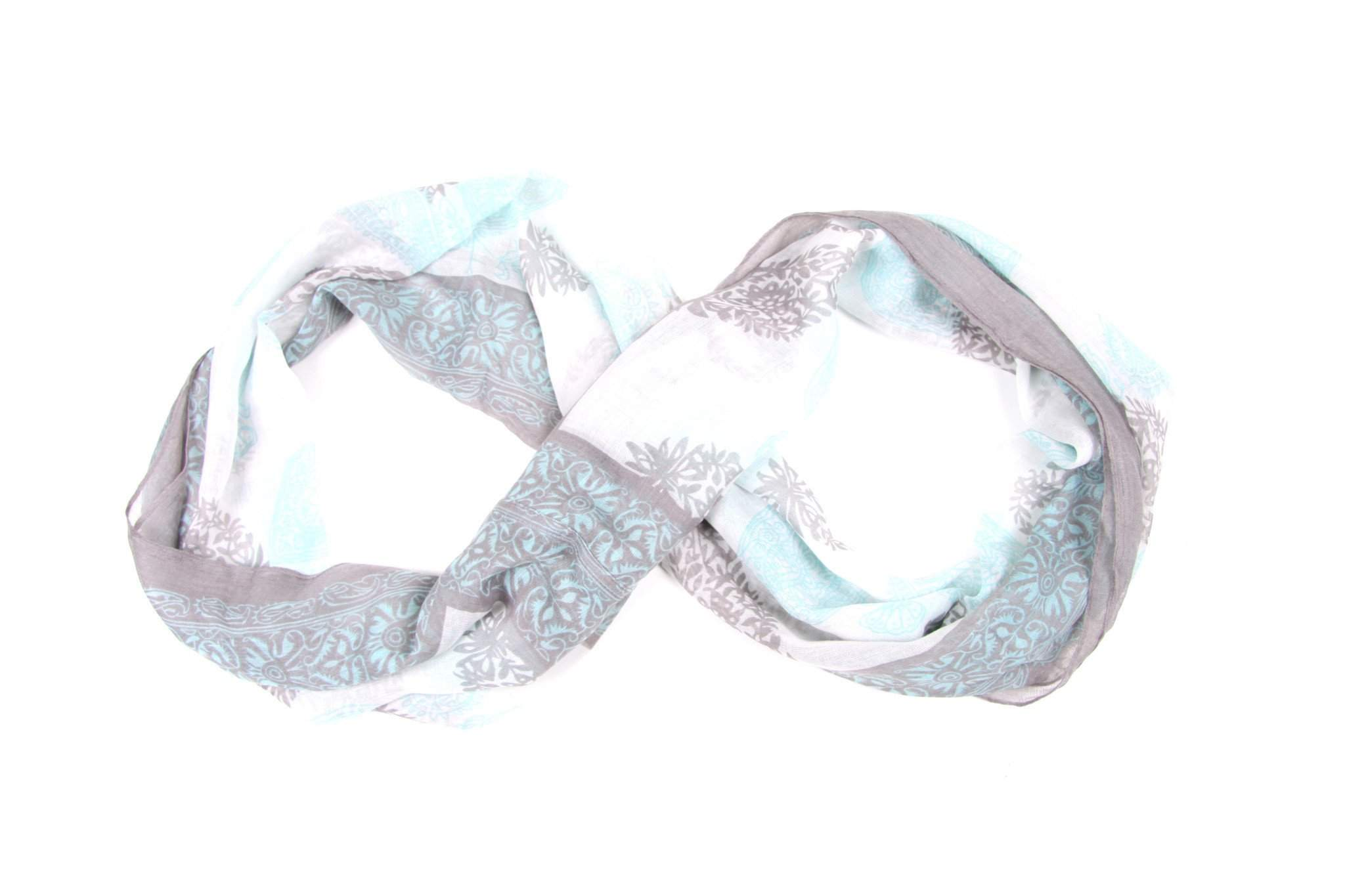 Light Blue Gray Circle Scarves-scarves-Necklush