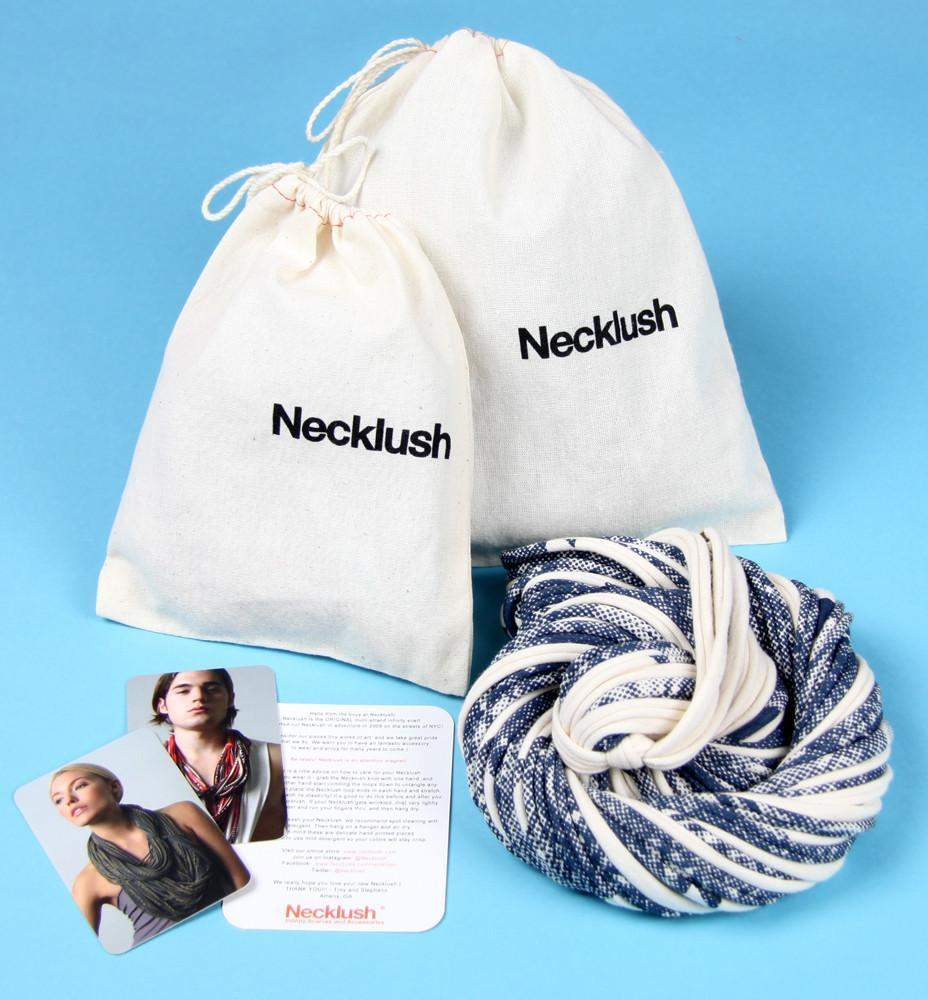 Light Blue with Stripes / Cowl-scarves-Necklush