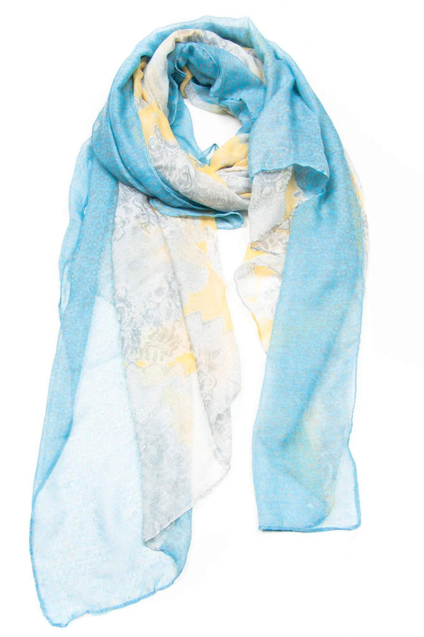 Light Blue Yellow Scarf-scarves-Necklush