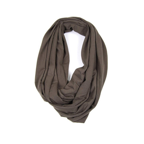 Light Brown Circle Scarf-scarves-Necklush