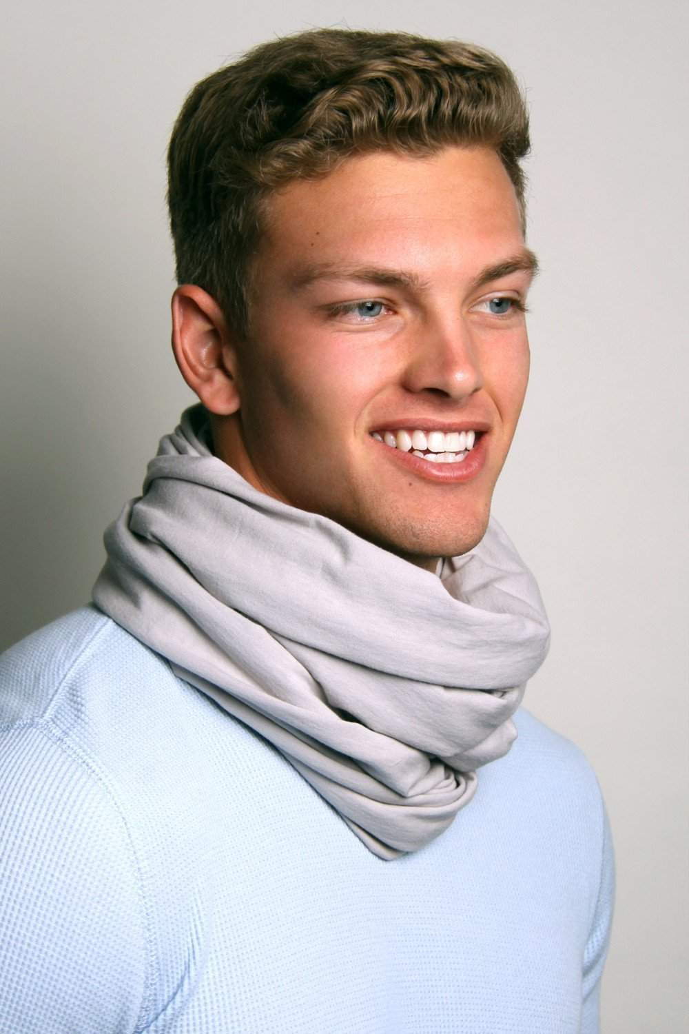Light Gray Circle Scarf-scarves-Necklush