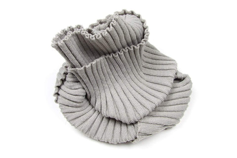 Light Gray Infinity Scarf, Knit, Mens, Womens, Circle Scarf, Loop Cowl-scarves-Necklush