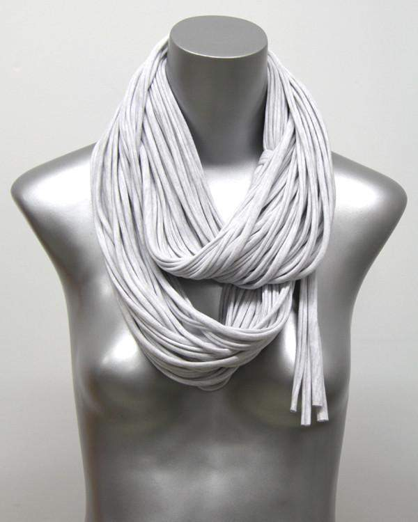 Light Gray Chunky Scarf