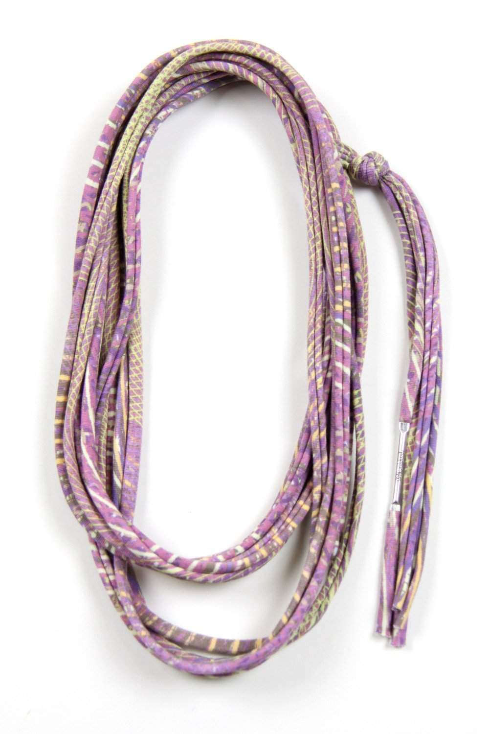 Light Purple Yellow Skinny Scarf Necklace-scarves-Necklush