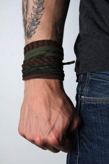 Mens Bracelet-Green Brown Mens Bracelet-Necklush