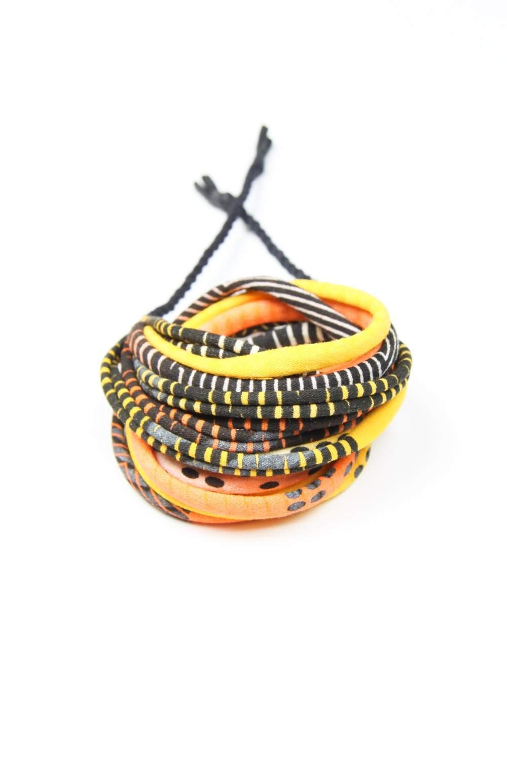 Mens Bracelet-Neon Yellow Orange Mens Bracelet-Necklush