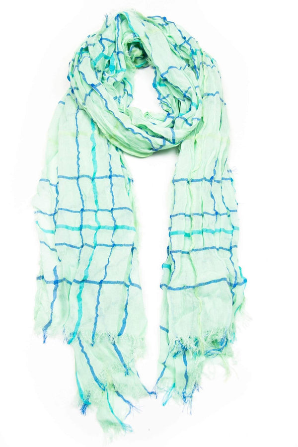 Mint Green Blue Scarf